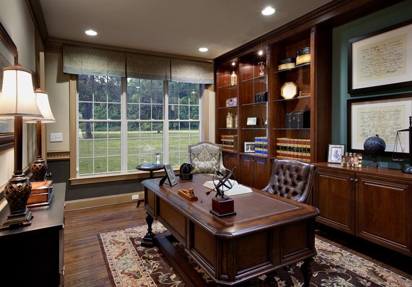 мебель в кабинете в доме