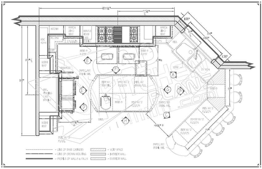 чертеж дизайн проекта кухни