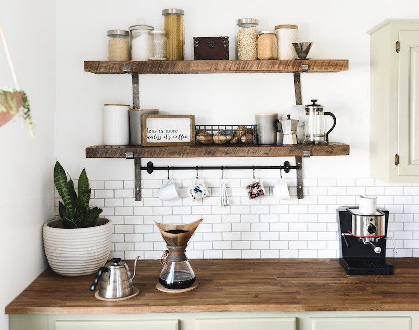 плитка на стене кухни