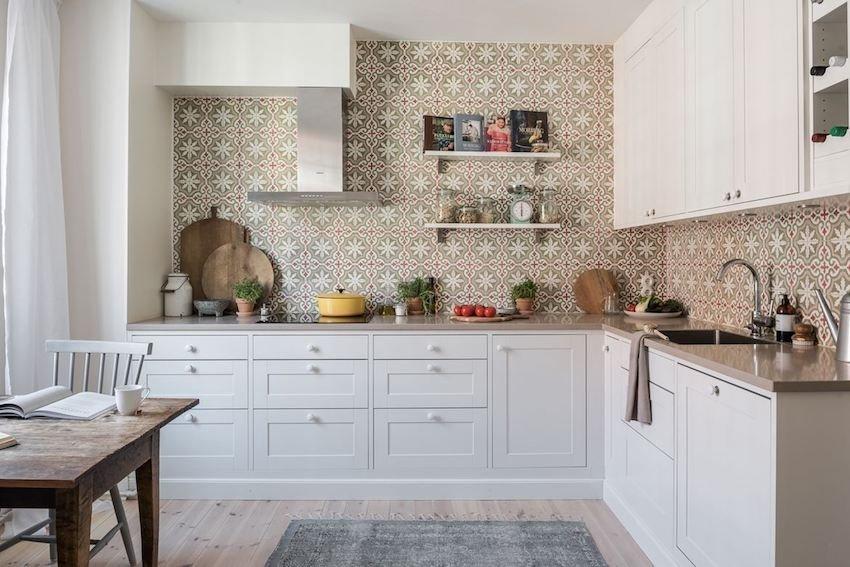 фото керамической плитки на стенах кухни