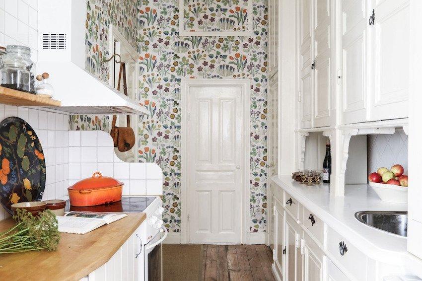 обои на кухне в скандинавском стиле