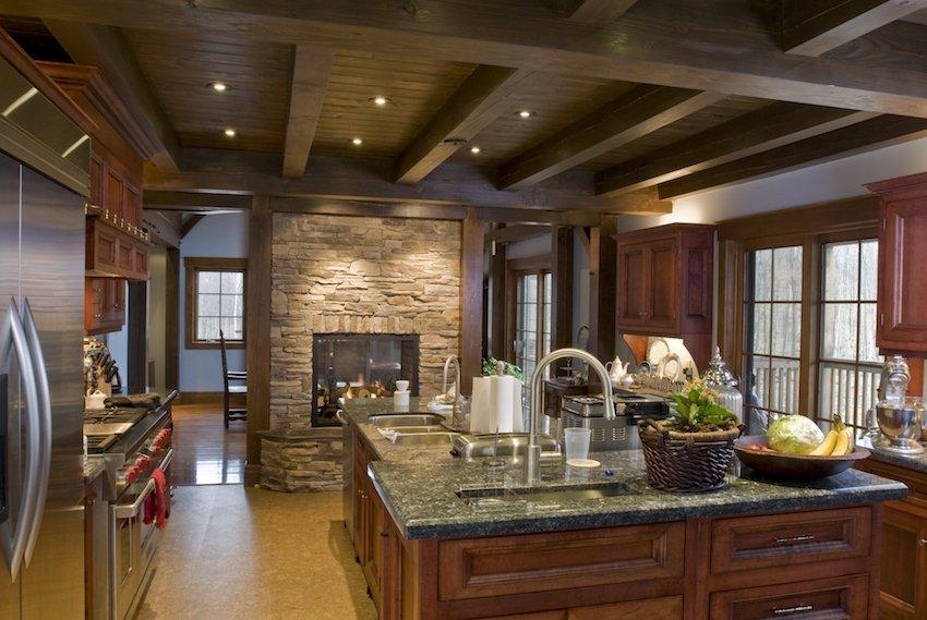фото кухни с использованием дерева
