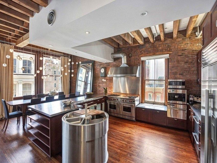 фото кухни в стиле лофт