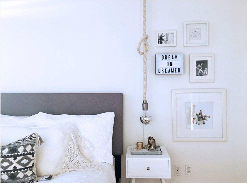 лампа в интерьере помещения