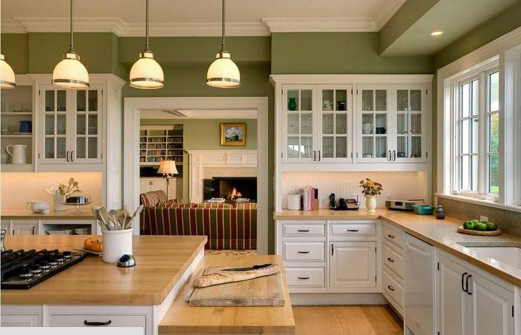 фото светло-зеленой кухни