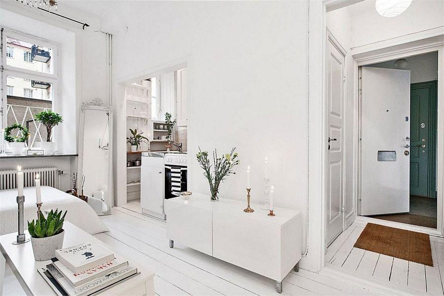 белая прихожая коридор