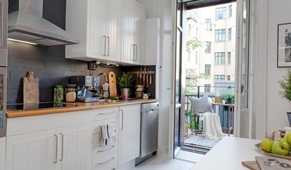 Дизайн лоджии с кухней