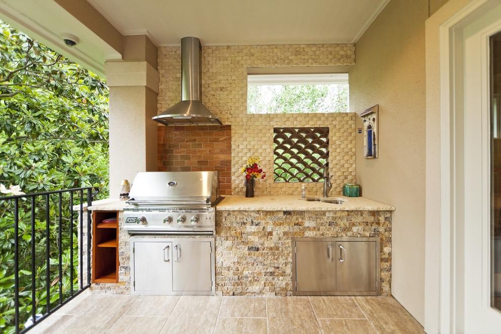Дизайн балкона с кухней