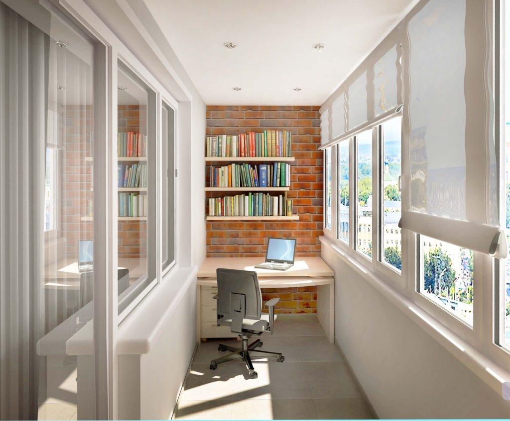 Дизайн балкона кабинет