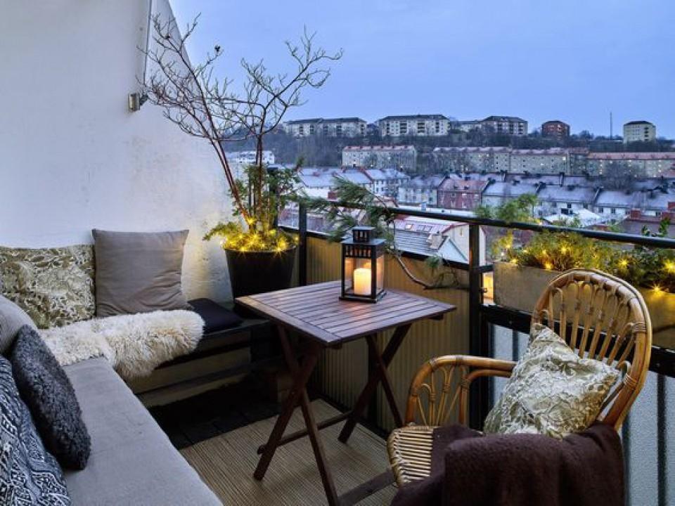 стиль интерьера балкон