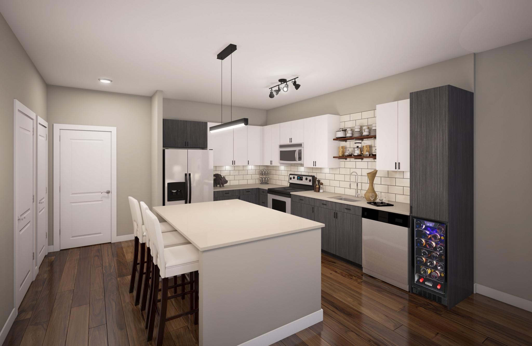 Отделка стен дизайн кухня