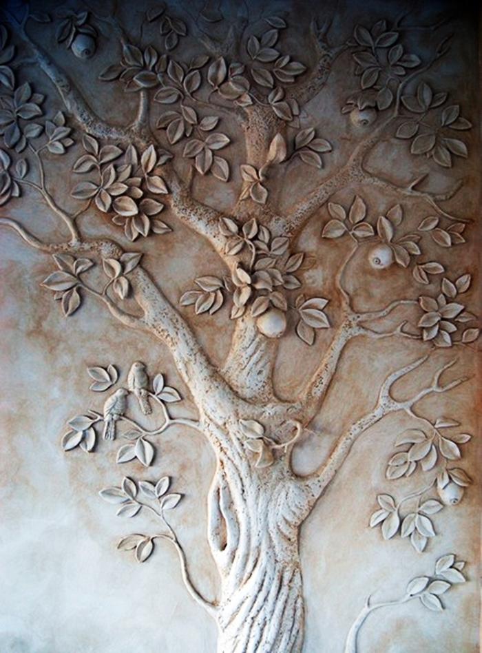 Как сделать барельефом дерево