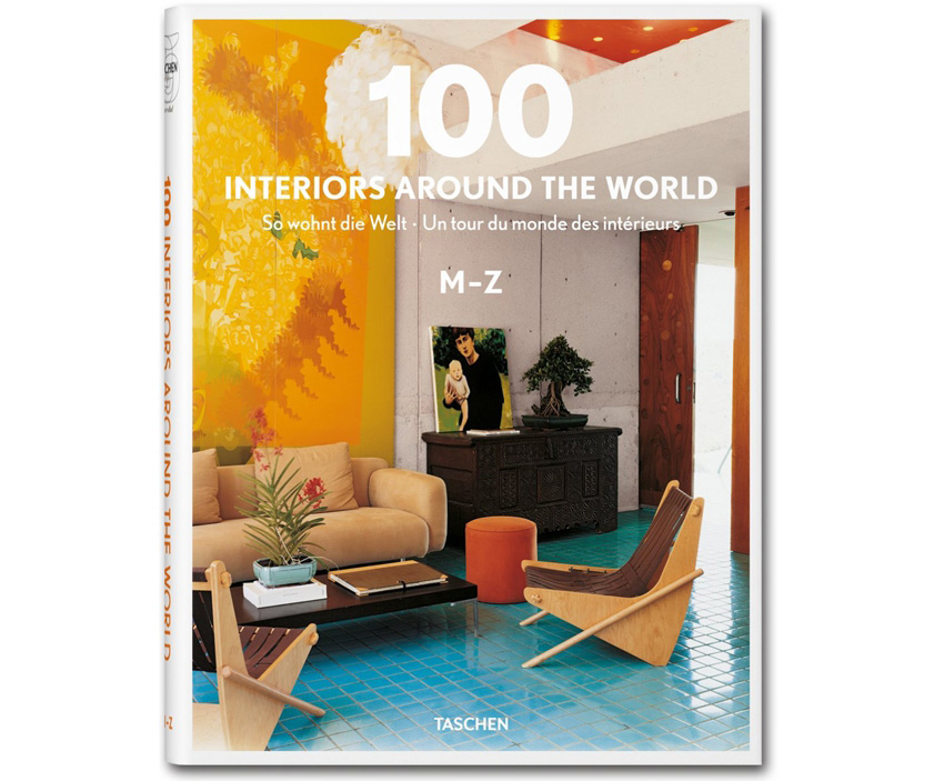 книга 100 Interiors Around The World