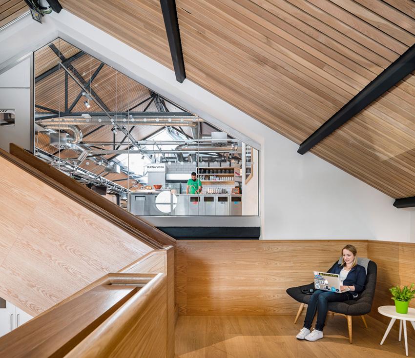 дизайн интерьера офиса Airbnb в Дублине