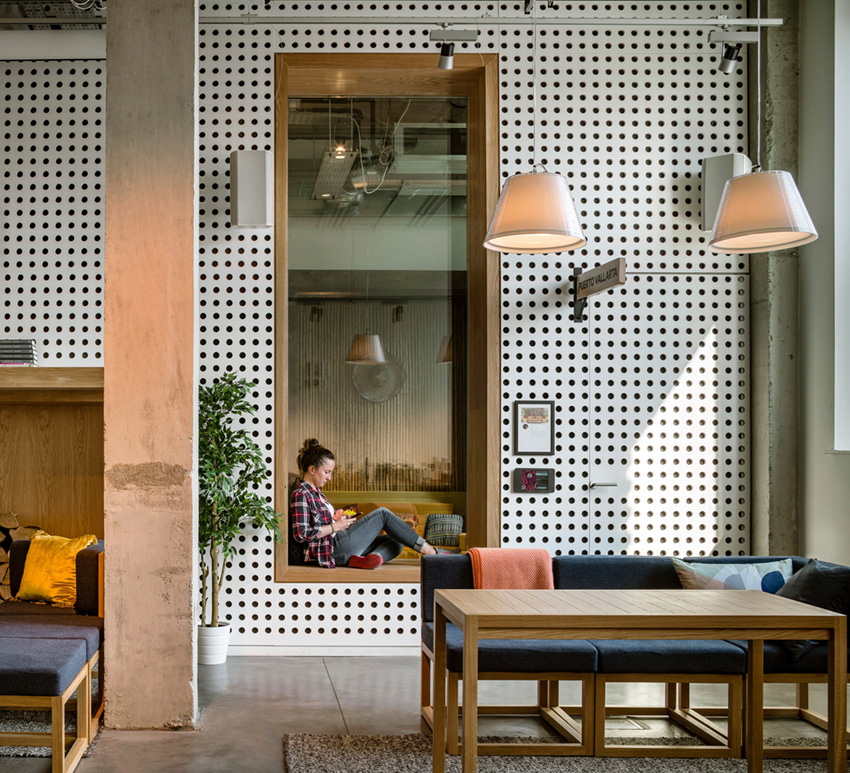 фото интерьера офиса Airbnb в Дублине