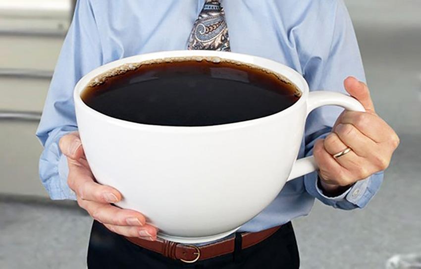 Картинка очень большая кружка кофе
