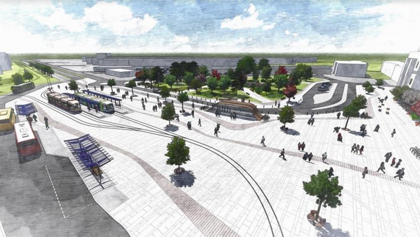 Во Львове реконструируют площадь перед железнодорожным вокзалом