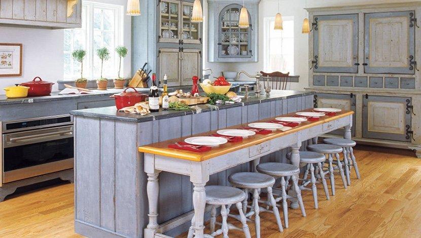 фото кухни в доме в стиле прованс