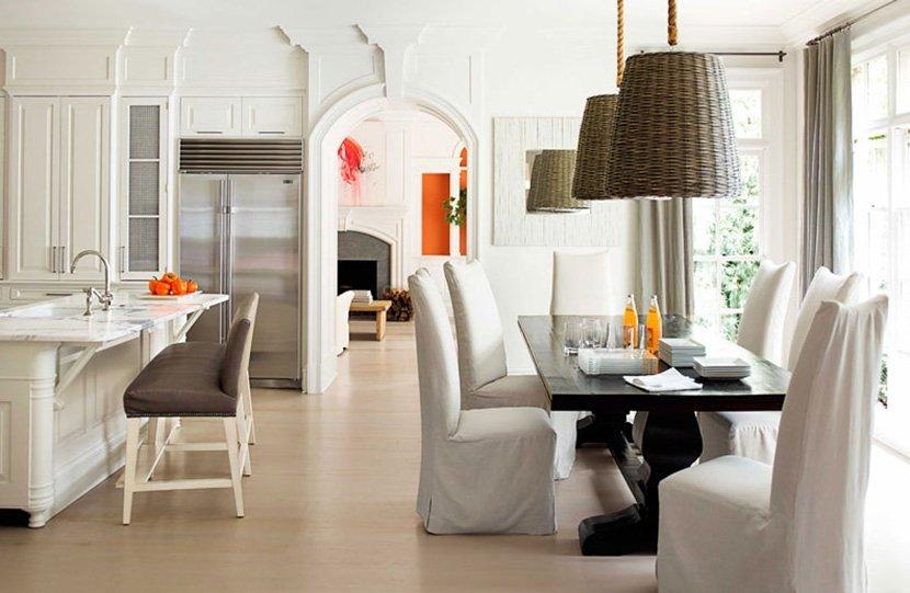 обеденная зона в кухне в частном доме