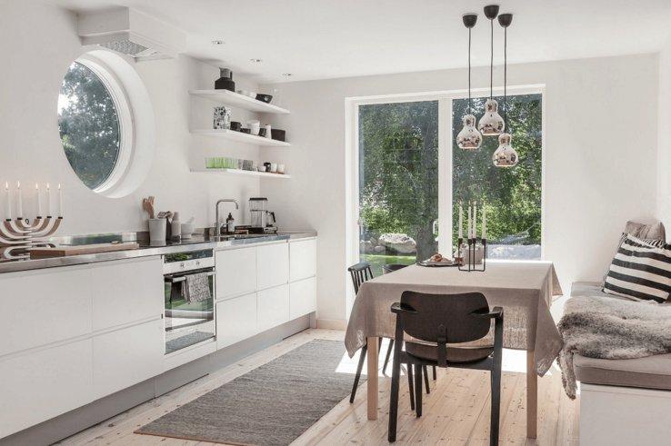 скандинавский стиль кухня белая кухня