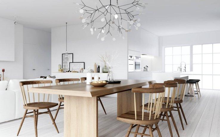 скандинавский стиль кухня современная