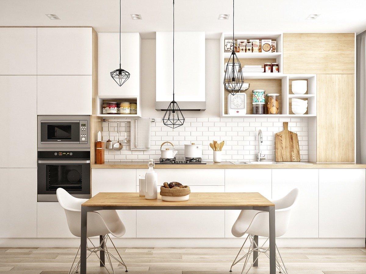 скандинавский стиль кухня дизайн