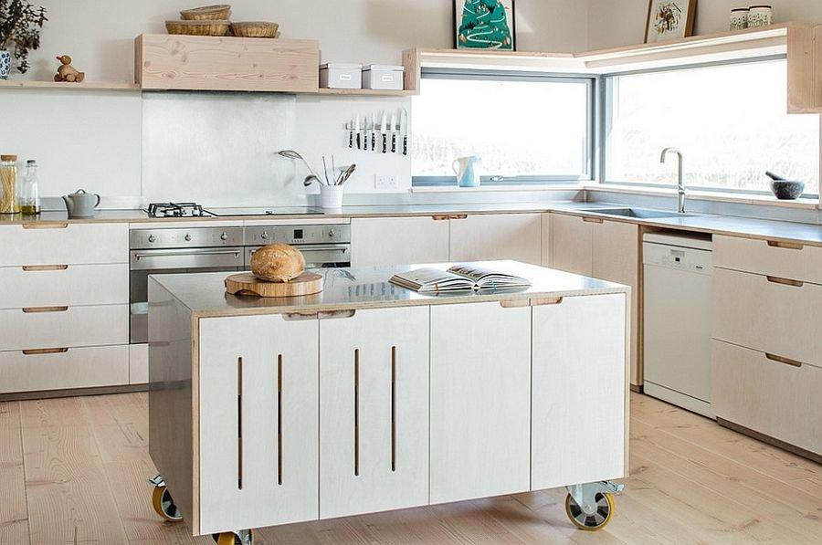 скандинавский стиль кухня белая