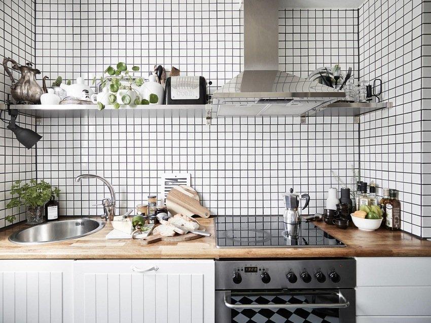 скандинавский стиль кухня плитка