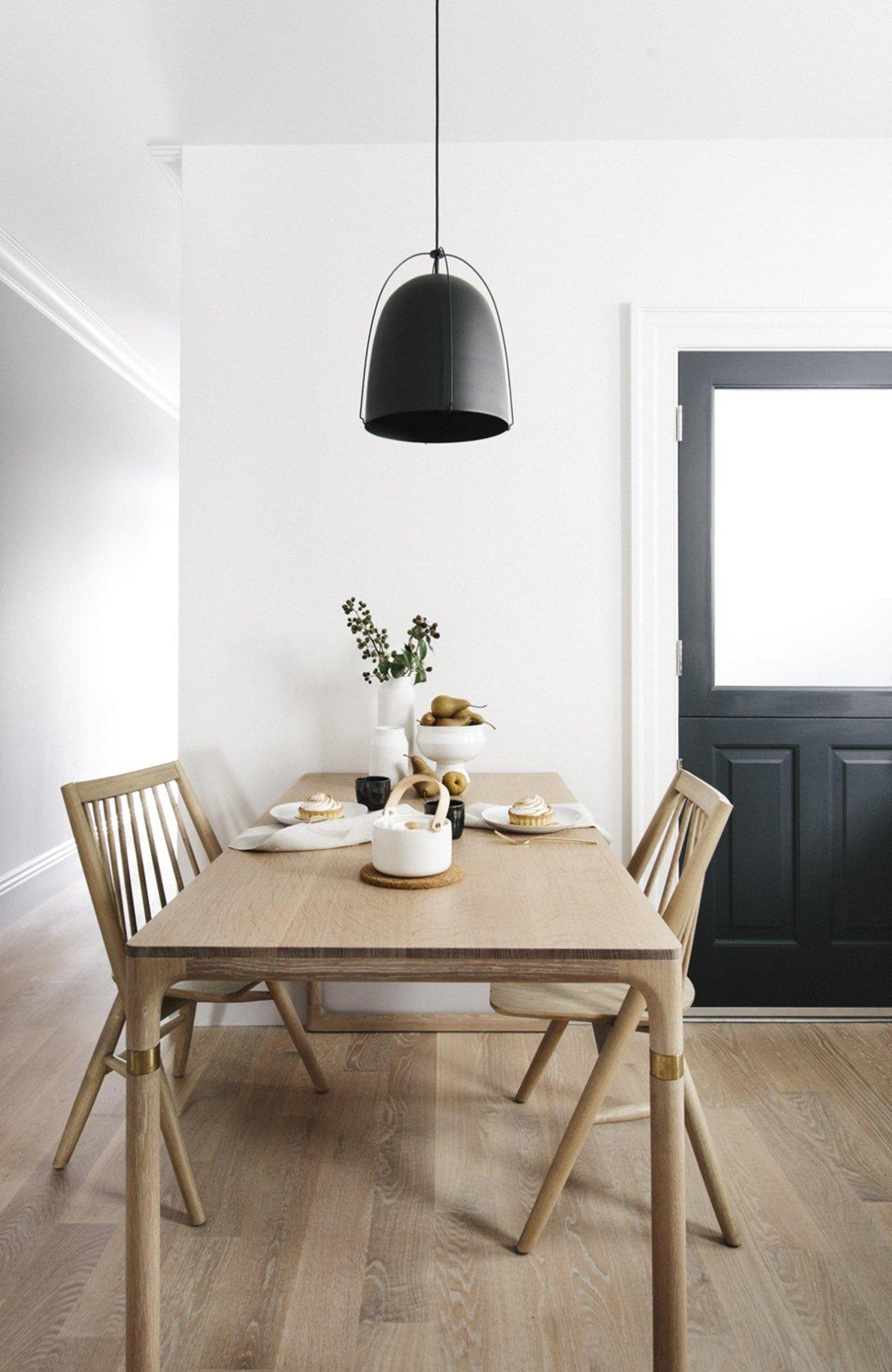скандинавский стиль кухня обеденный стол