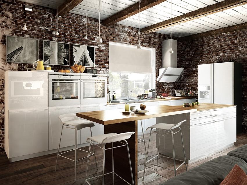 Дизайн кухни в стиле лофт фото идеи для вдохновения