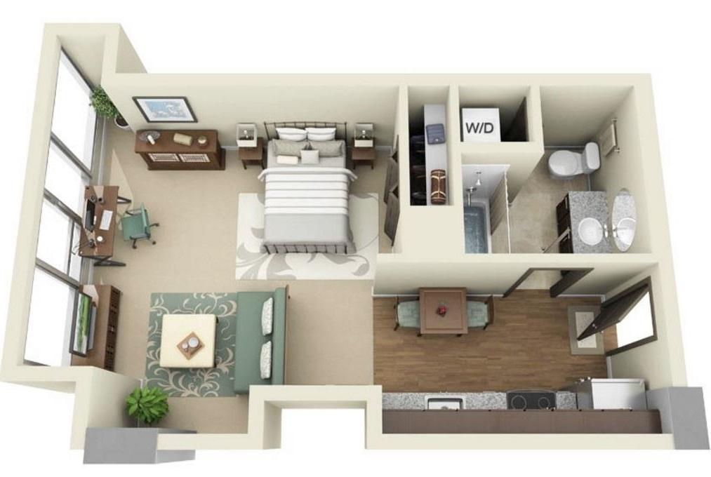 Картинки по запросу дизайн проект однокомнатной квартиры