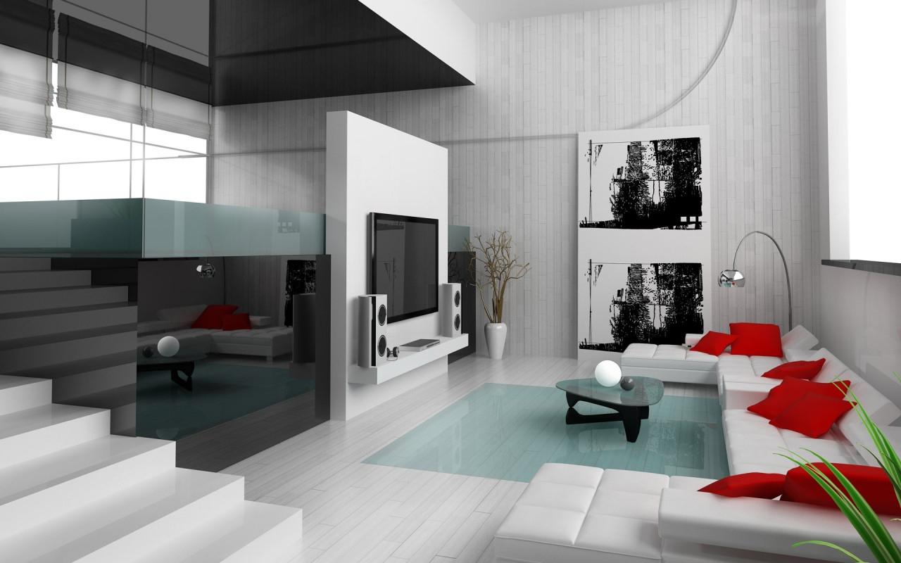 Дизайн гостиной с лестницей