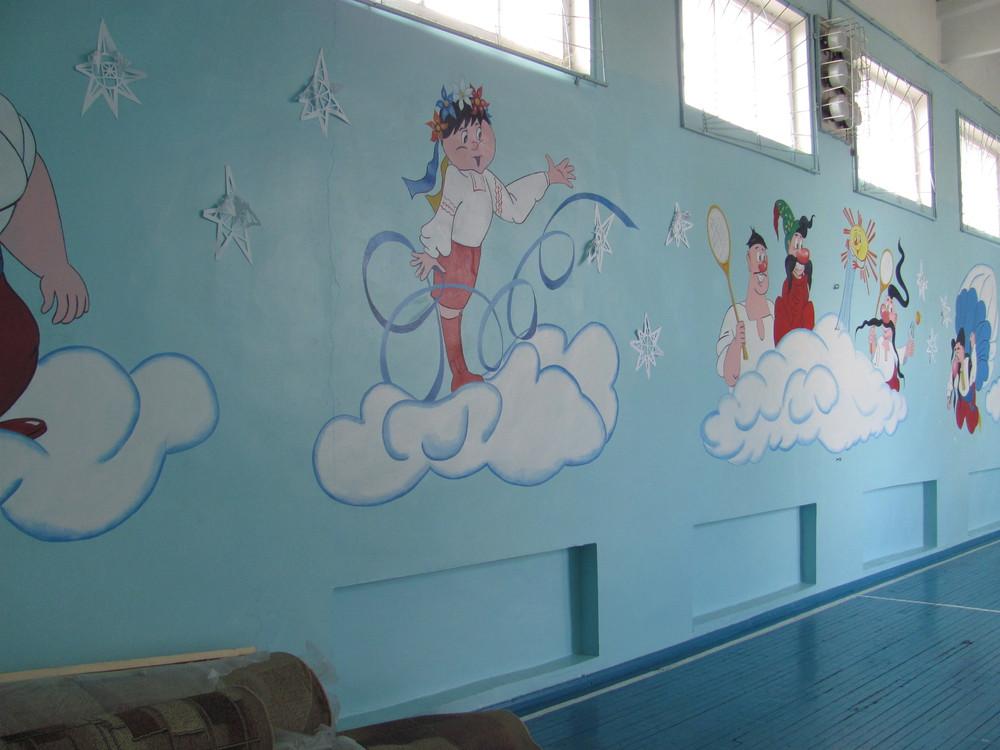 картинки как разрисовать стены в спортзале большевиков статус