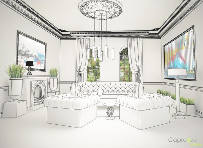 дадут картинки гостиной комнаты рисунок гостиницы