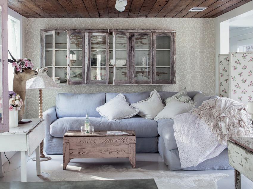 Гостиная в стиле прованс — 45 фото красиво оформленной гостиной