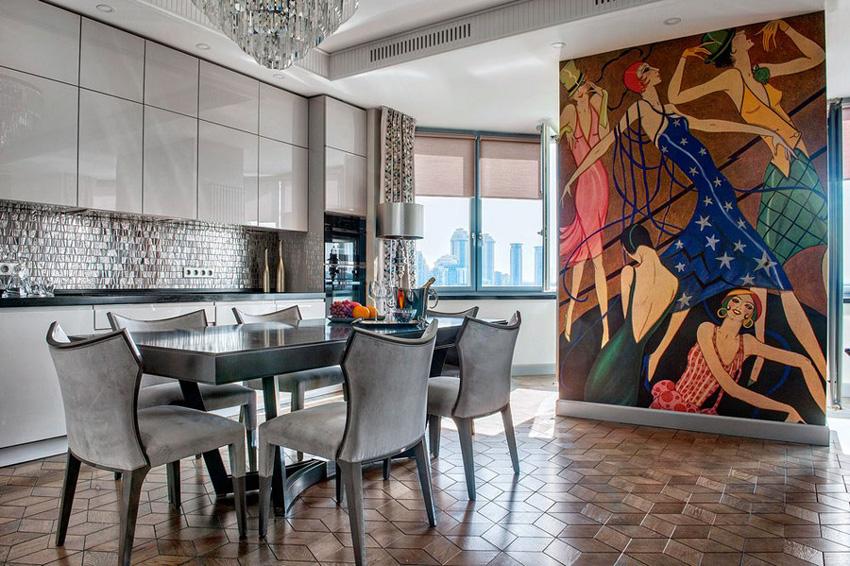 Кухня в стиле арт-деко 47 фото использование стиля ар-деко в создании дизайна интерьера кухни стильные идеи для декора и выбор кухонного гарнитура
