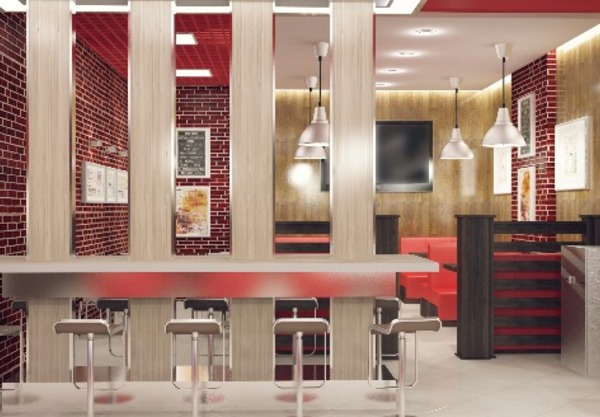 Interior design for Burger Master